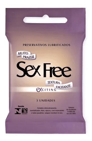 Preservativo com textura excitante Sex Free