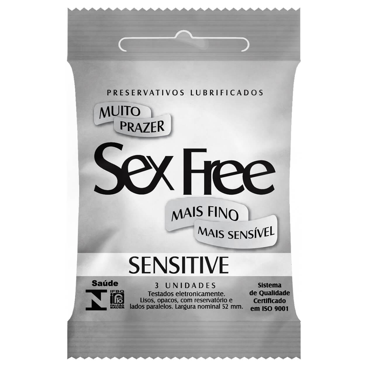 Preservativo Sex Free Sensitive - mais fino e mais sensivel