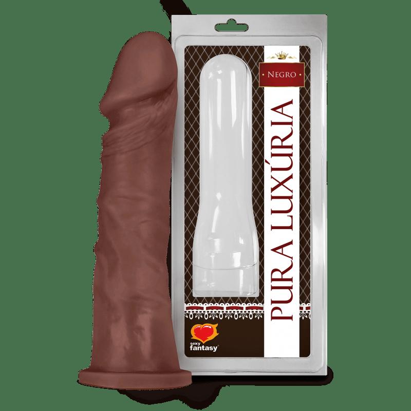 Protese Pênis Realístico ? 18,5x4,1cm negro Pura Luxúria