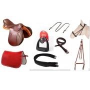 Combo/Kit Sela de Hipismo Premium Tack Pro Basic