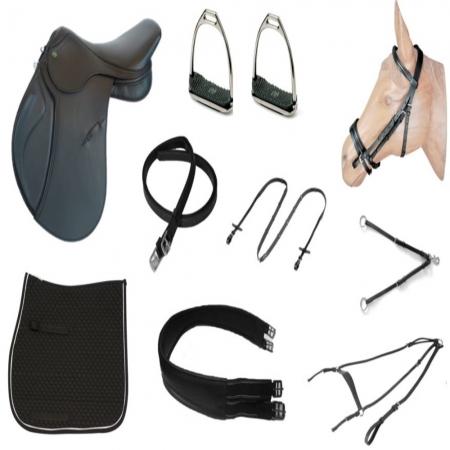 Kit Sela de Hipismo/Equitação Premium Tack Pro Basic
