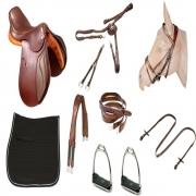 kit Sela de Hipismo/Equitação Premium Tack Pro Luxo