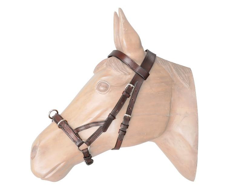 Cabeçada em Couro para Rodar Cavalo SS  - Salto & Sela