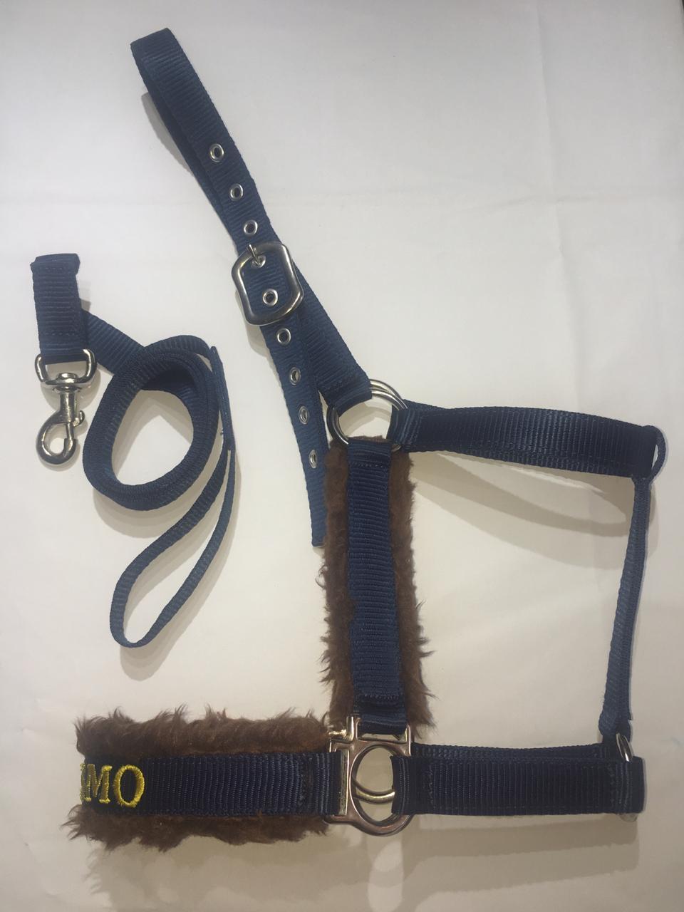 Cabresto para Cavalo Personalizado Bordado com Cabo Premium  - Salto & Sela