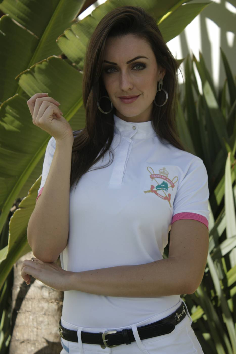 Camisa Polo Feminina de Hipismo Piquet HDR  - Salto & Sela