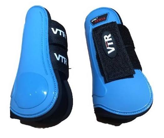 Caneleira para Cavalo Velcro/Borracha  Atria VTR  - Salto & Sela