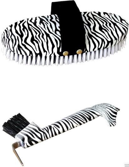 Conjunto de Escova e Limpador de Ranilha Zebra INS  - Salto & Sela