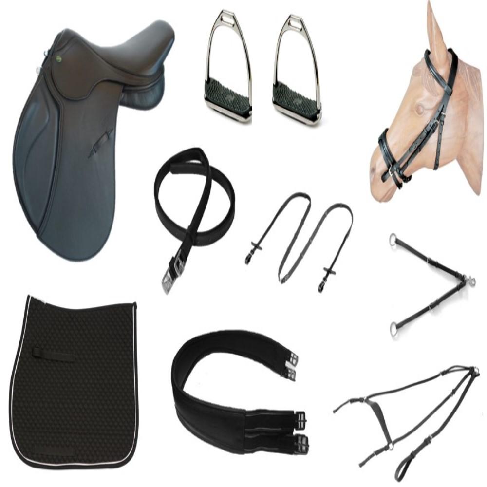 Kit Sela de Hipismo/Equitação Premium Tack Pro Basic  - Salto & Sela