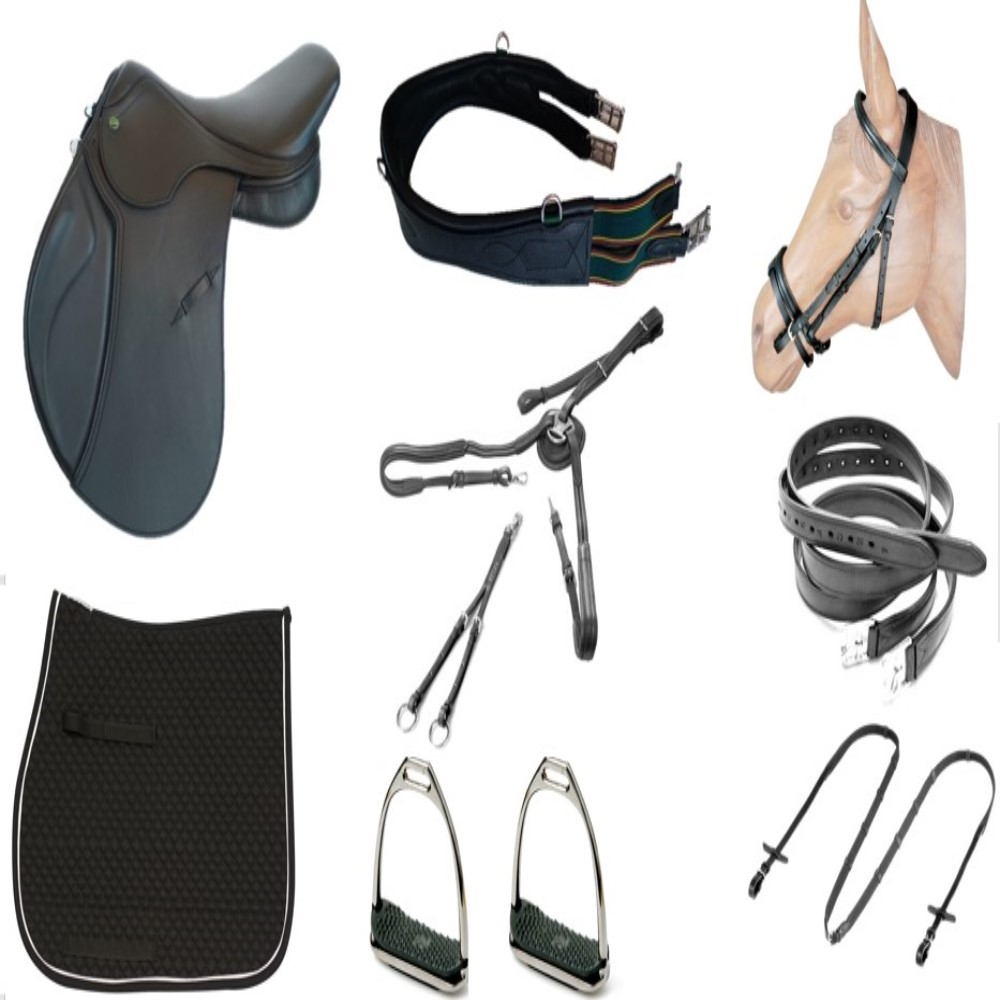 kit Sela de Hipismo/Equitação Premium Tack Pro Luxo  - Salto & Sela