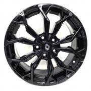 Jogo de Rodas Renault Sandero Aro 16X6,0 5X114,3 Tala 42 Black M16