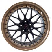 Jogo De Rodas SL300 H&R BBS 18x8,5 5x112 Vittoria Black Borda Bronze