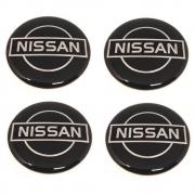 Kit 4 Emblemas Adesivo Resinado Para Calota Nissan