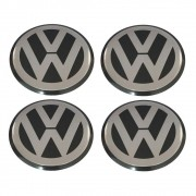 Kit 4 Emblemas Adesivo Resinado Para Calota Volkswagen