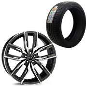Kit Jogo de rodas BMW Aro 20 5x112 K67 BD + 4 Pneus Delinte 245/40 R20