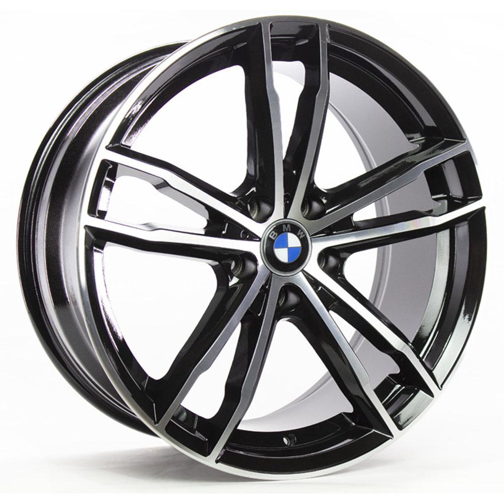 Jogo De Rodas BMW 330i Aro 20x8,0 5x120 GT7 Preto Diamantado Brilhante