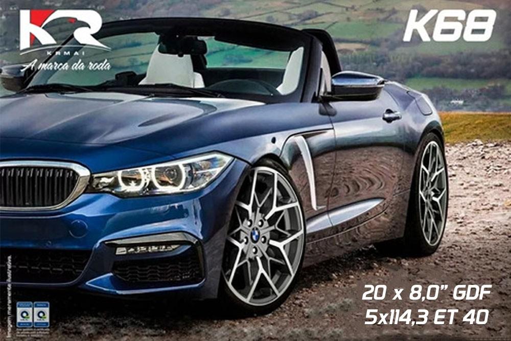 Jogo de Rodas Esportivas BMW Aro 20 5x114 K68 GFD