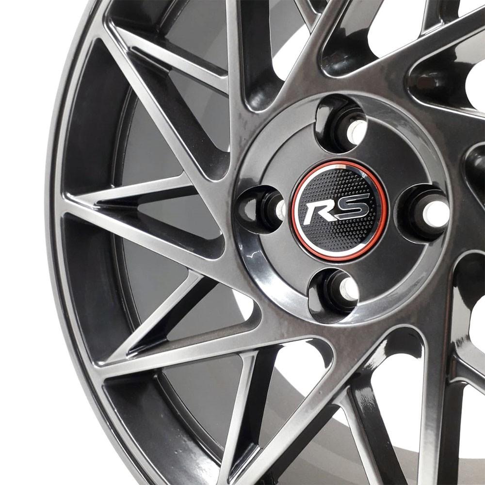 Jogo de Rodas Esportivas RS01 Aro 17 4x100 VW GM