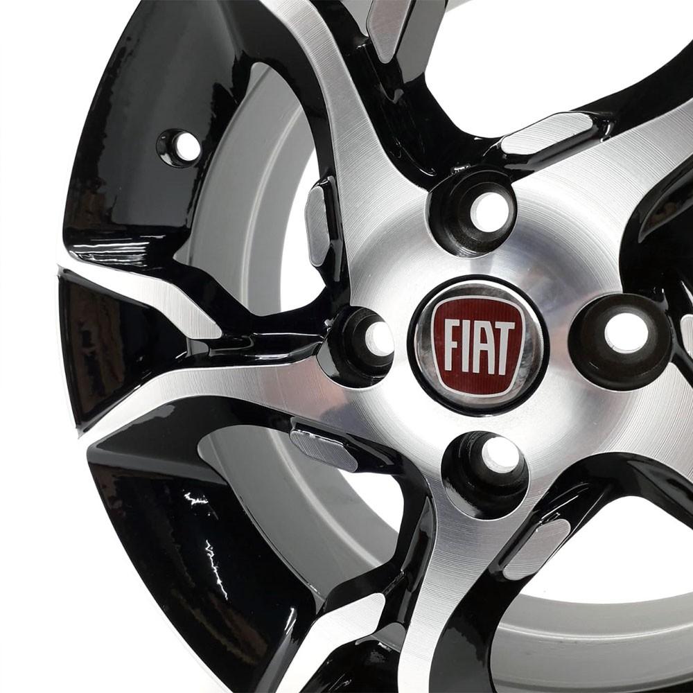 Jogo de Rodas Fiat Argo HGT Aro 14 4x98 ZK860 BD