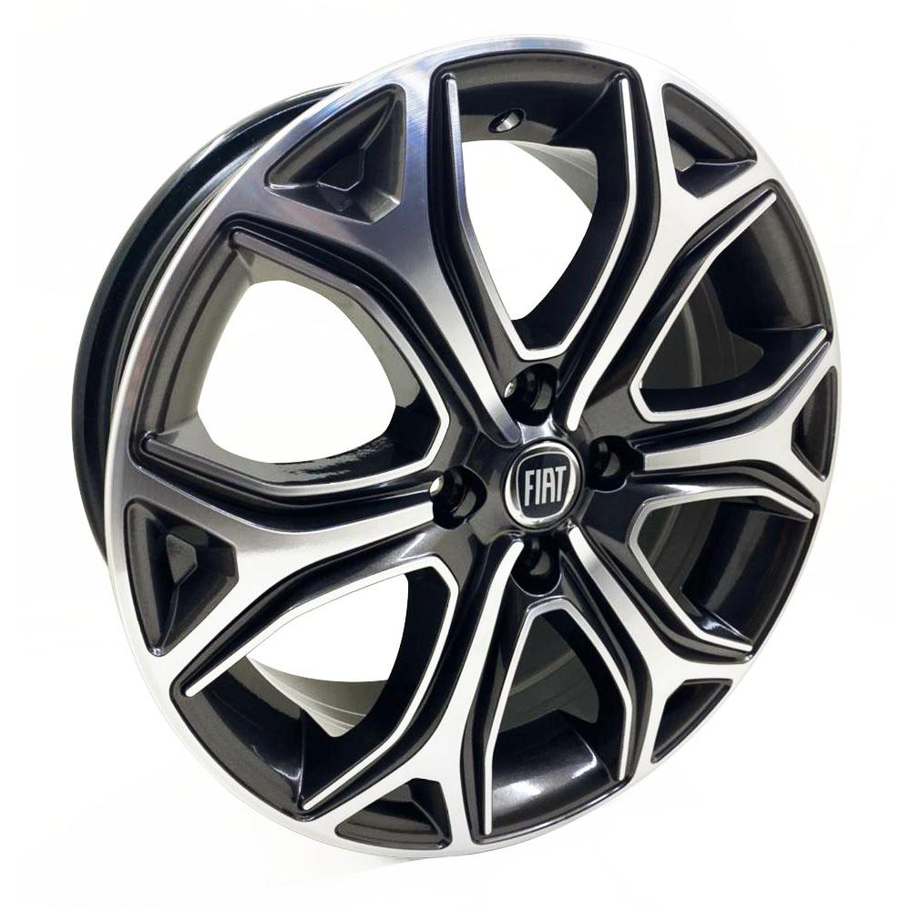 Jogo De Rodas Fiat Strada 2021 Aro 15 4x98 Tala 6 S29 GD