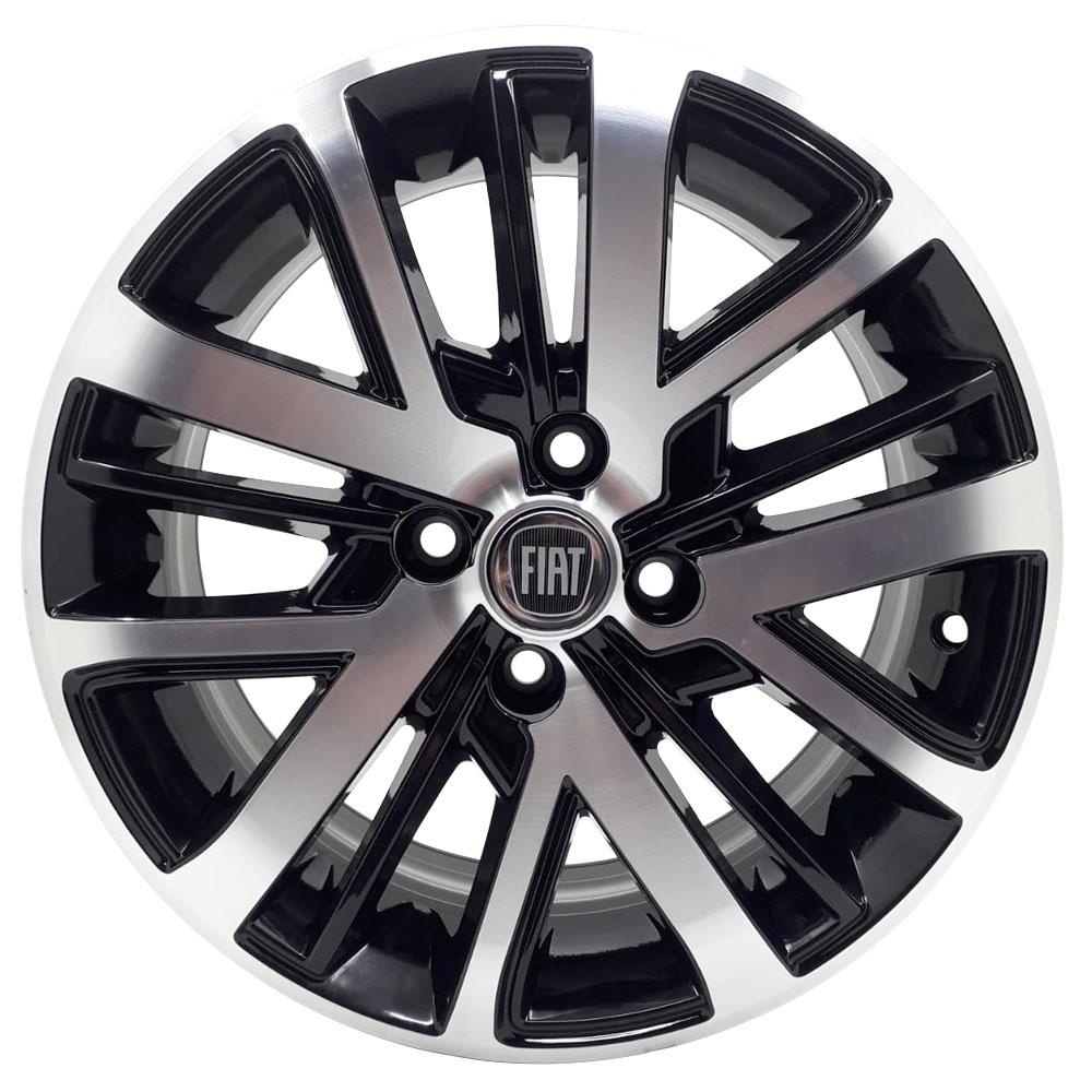 Jogo de Rodas Fiat Strada 2021 Aro 15X6,0 4X98 Tala 36 BD ZK950