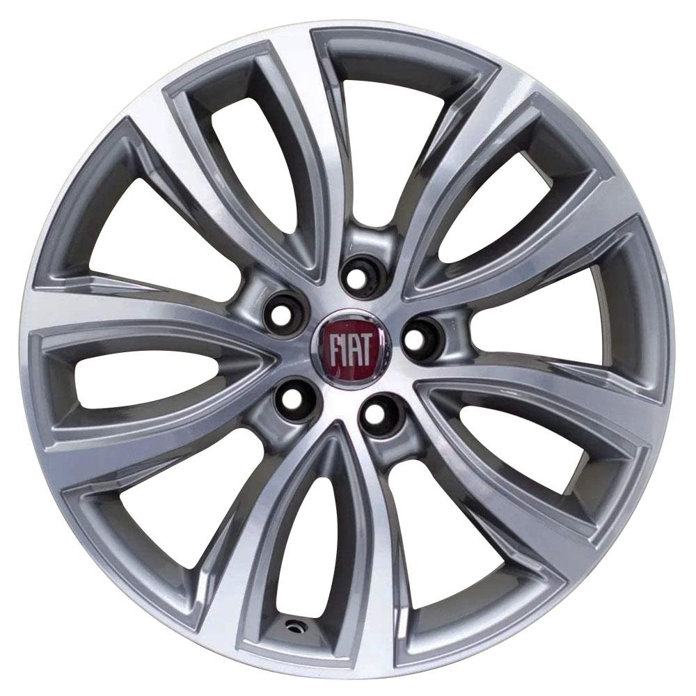 Jogo De Rodas Fiat Toro 2018 Aro 16 5x110 Tala 6 S02 GD