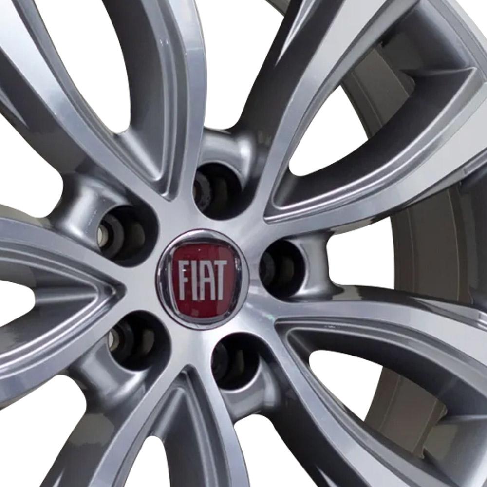 Jogo De Rodas Fiat Toro 2018 Aro 18 5x110 Tala 7 S02 GD