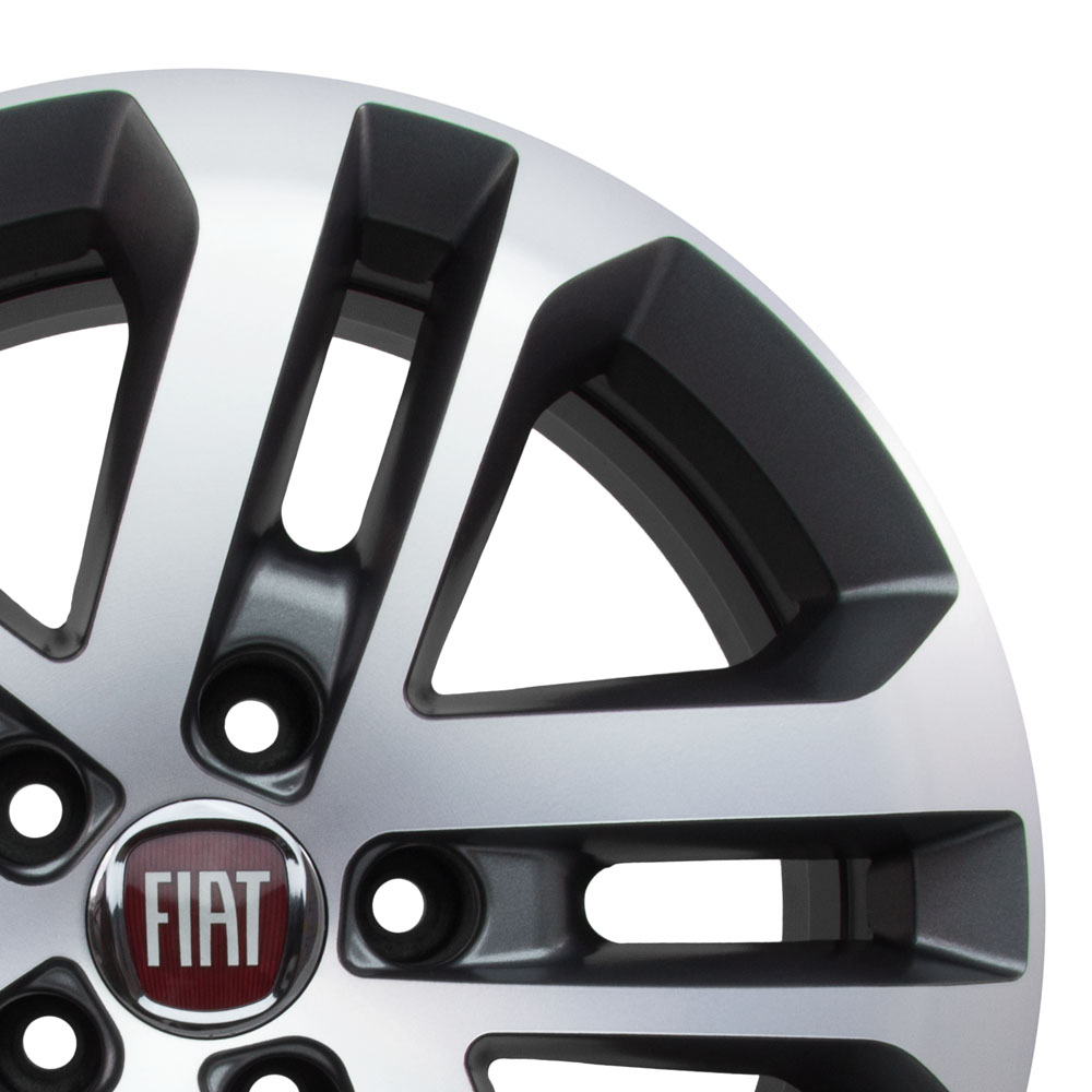 Jogo De Rodas Fiat Toro Aro 17 5x110 Tala 7 R73 GFD