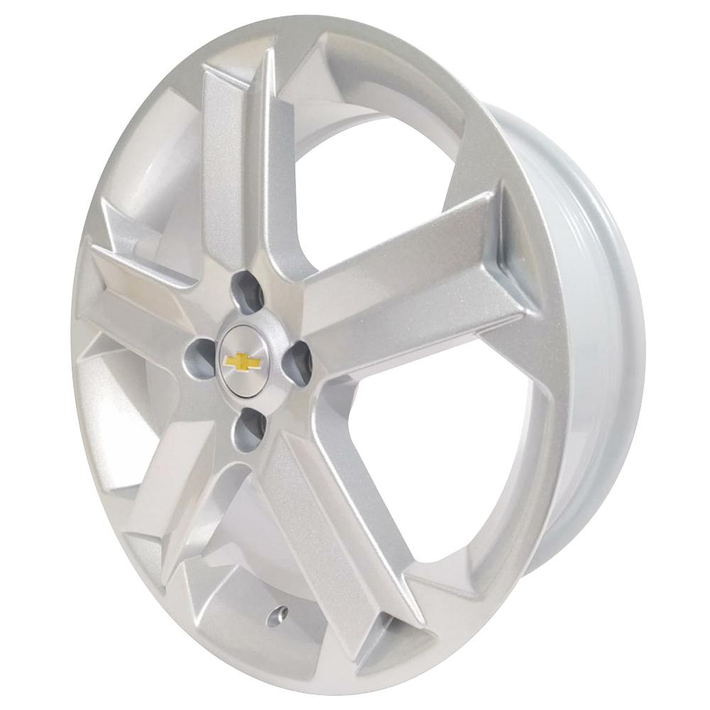 Jogo De Rodas GM Agile Sport Aro 17x6,0 4x100 BRW 1060 Prata