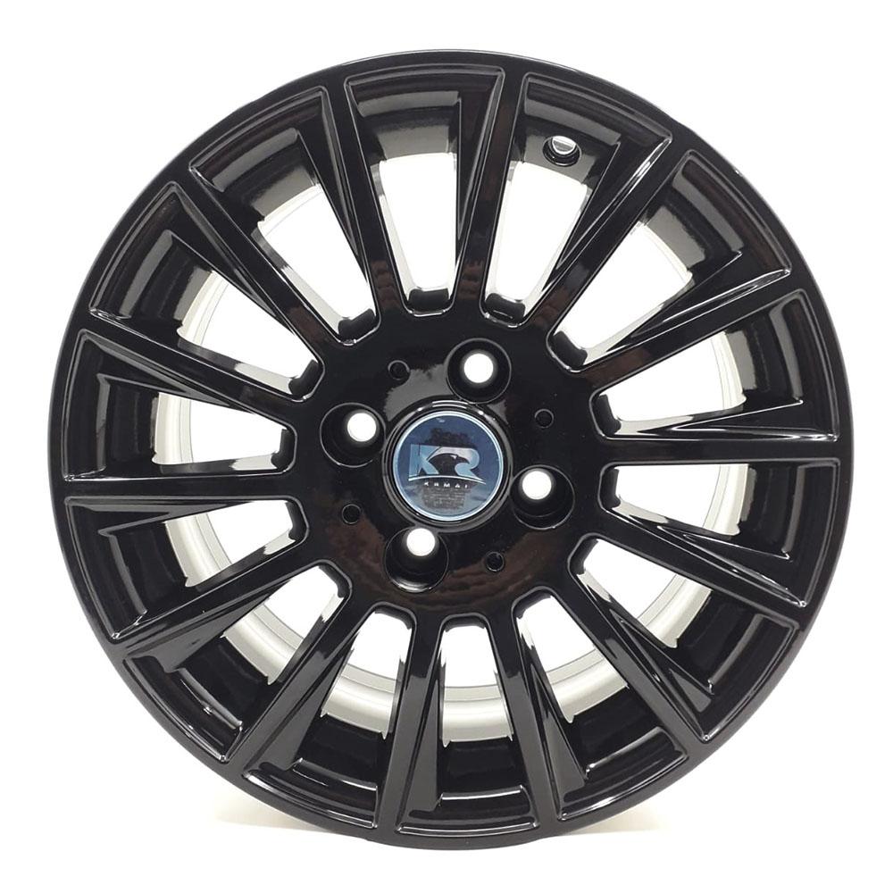 Jogo De Rodas Mercedes C63 AMG Aro 15 4x108 Tala 6 R66 Black