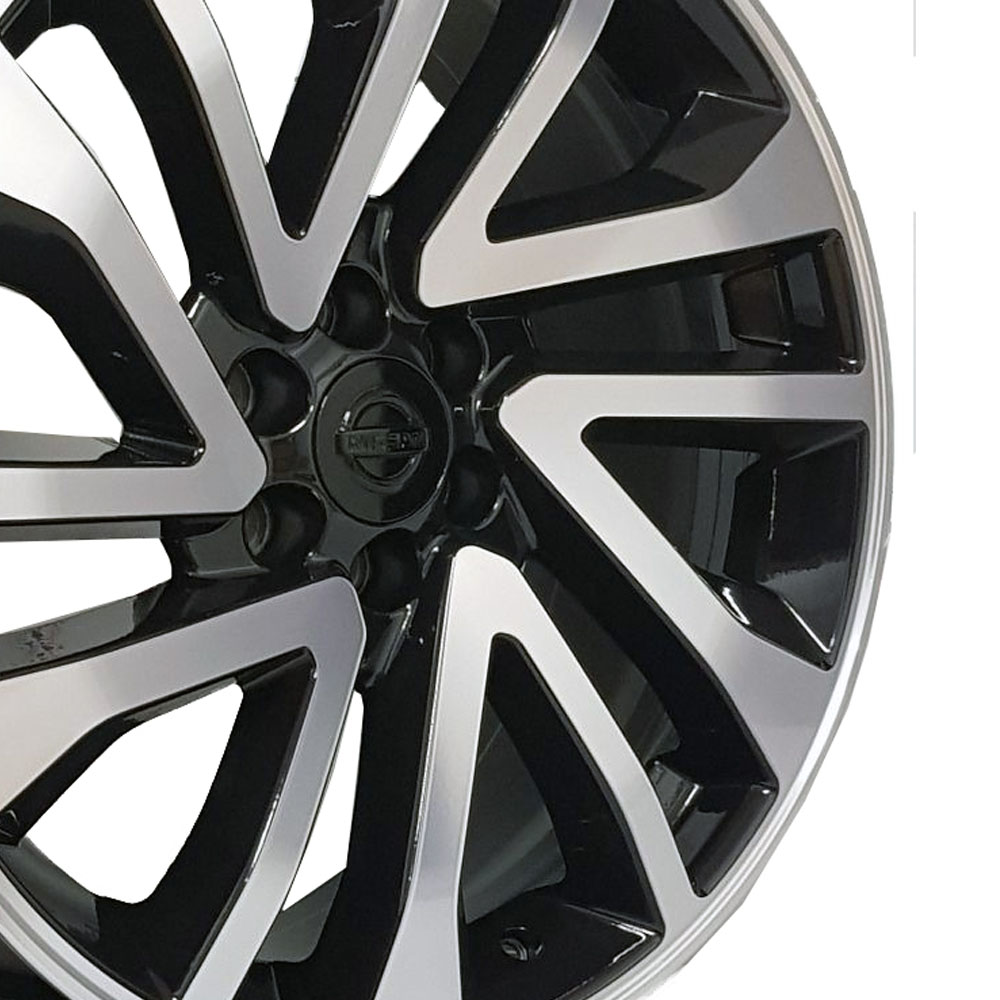 Jogo de Rodas Nissan Frontier Aro 20X8,5 6X114,3 Tala 33 BD L3