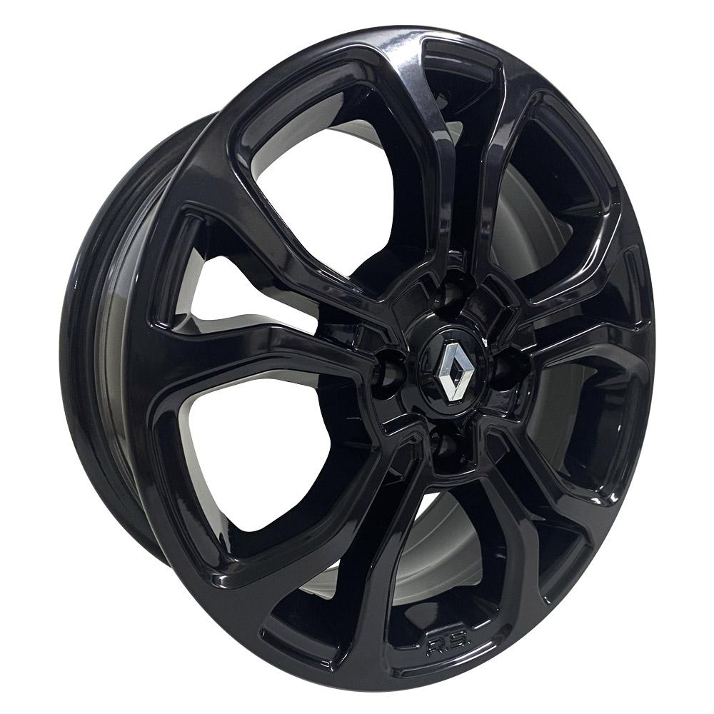 Jogo De Rodas Renault Sandero Aro 14 4x100 M7 Black