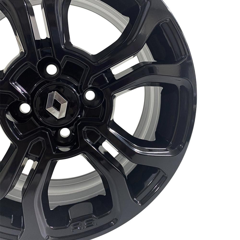 Jogo De Rodas Renault Sandero Aro 15 4x100 M7 Black