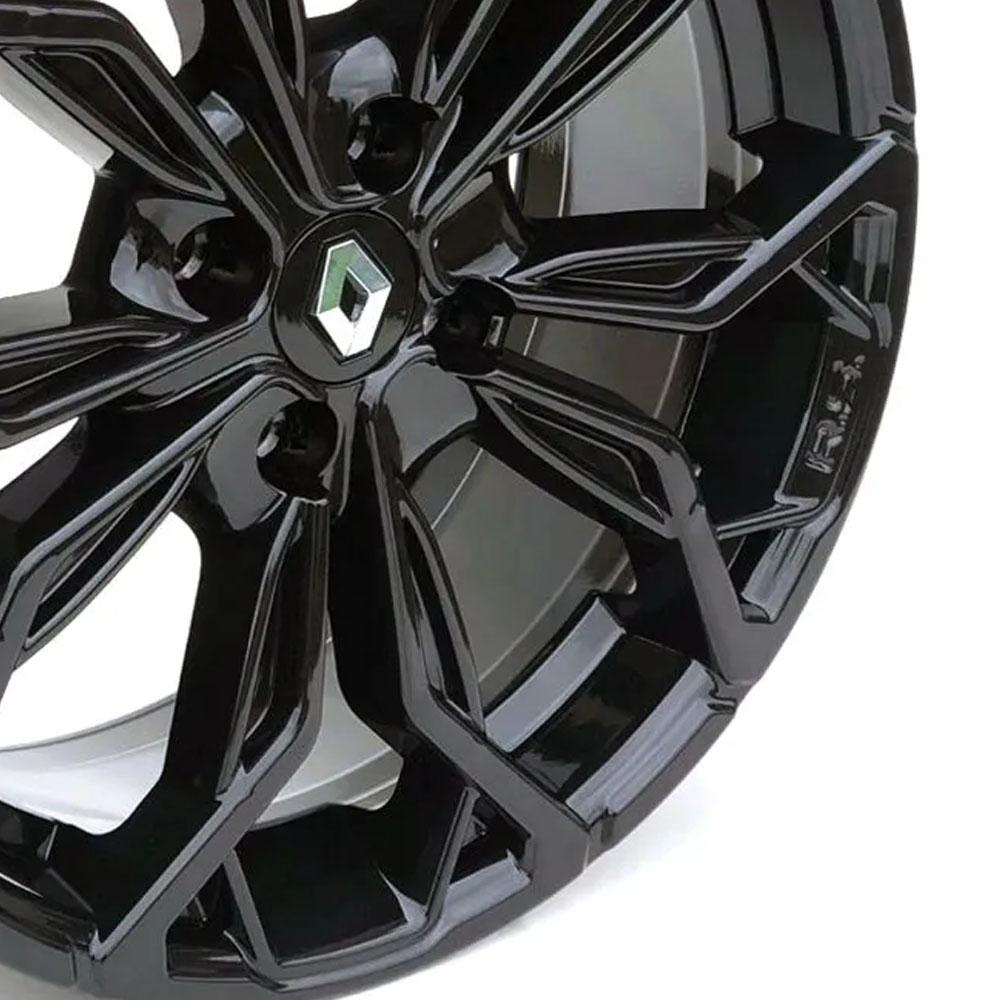 Jogo de Rodas Renault Sandero M16 Aro 15X6,0 4X100 Tala 38 Black