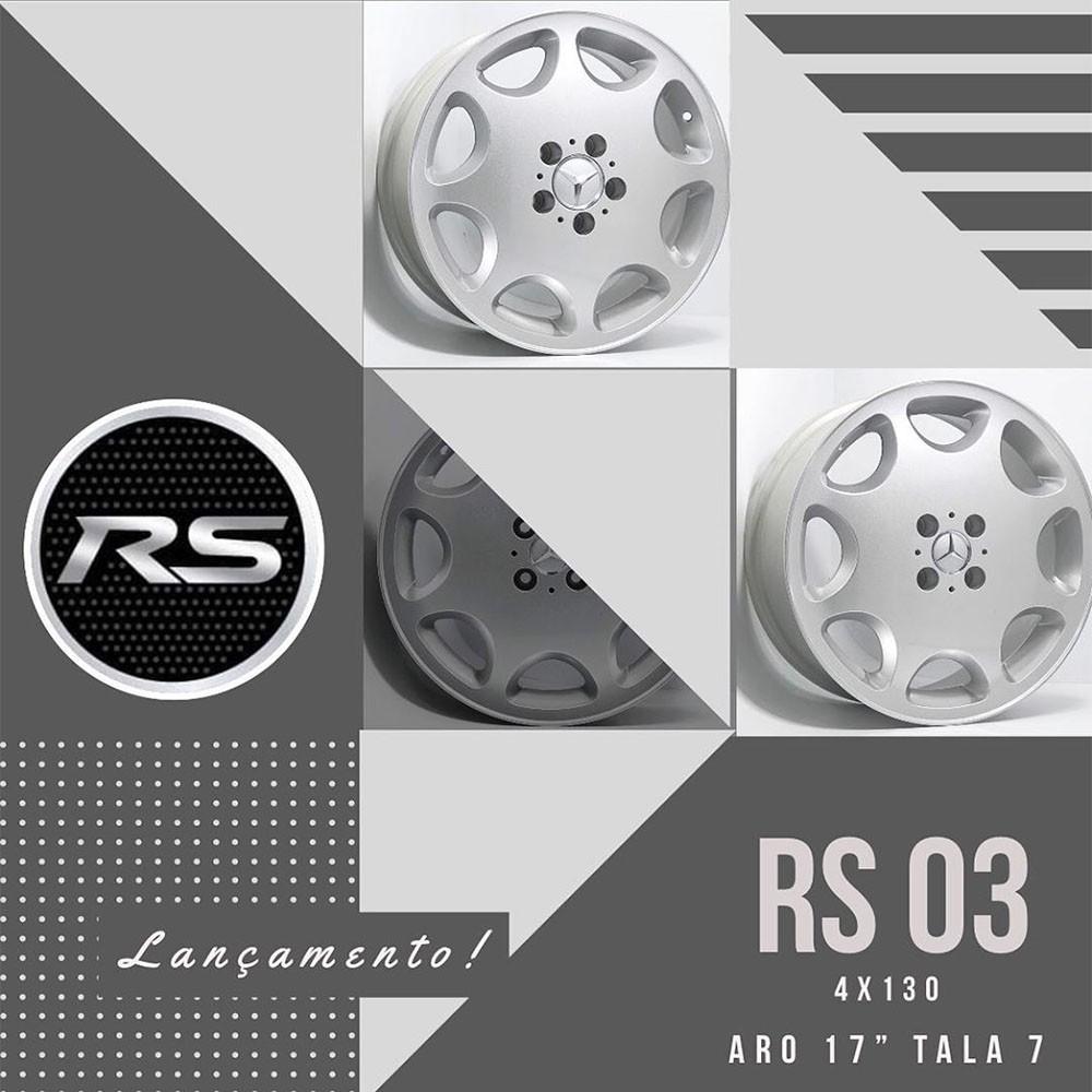 Jogo de Rodas RS03 Mercedes C180 Aro 17 4x100 Gol