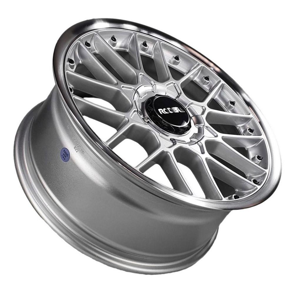Jogo De Rodas RS2 Flat Aro 17x7,5 4x100/5x100 Rodera Prata