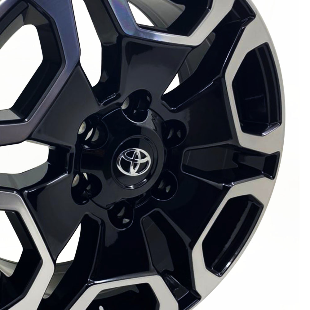 Jogo De Rodas Toyota Hilux SRX Aro 22 6x139,7 S31 BD +  Kit 4 Pneus Landsail Aro 22 275/45 R22 112V XL LS588 SUV