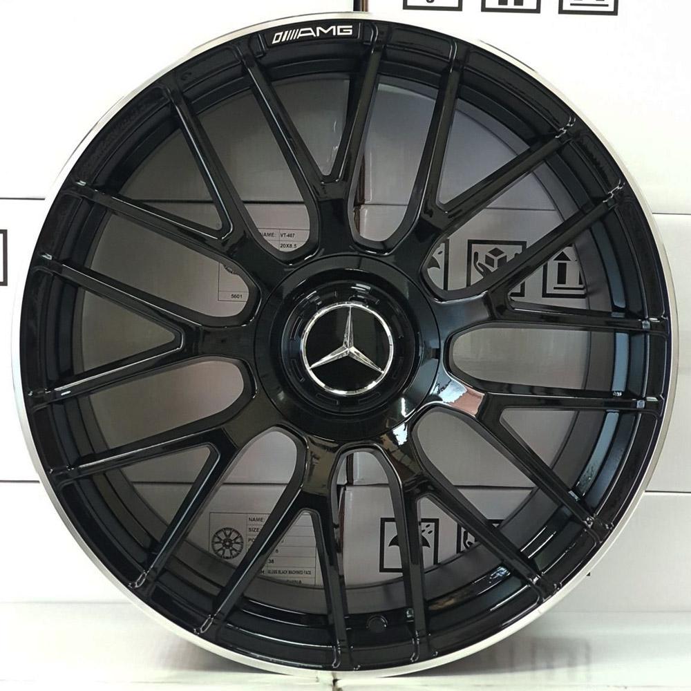 Jogo De Rodas Mercedes C63 BK912 Aro 19x8,5 5x112 VT103 BG