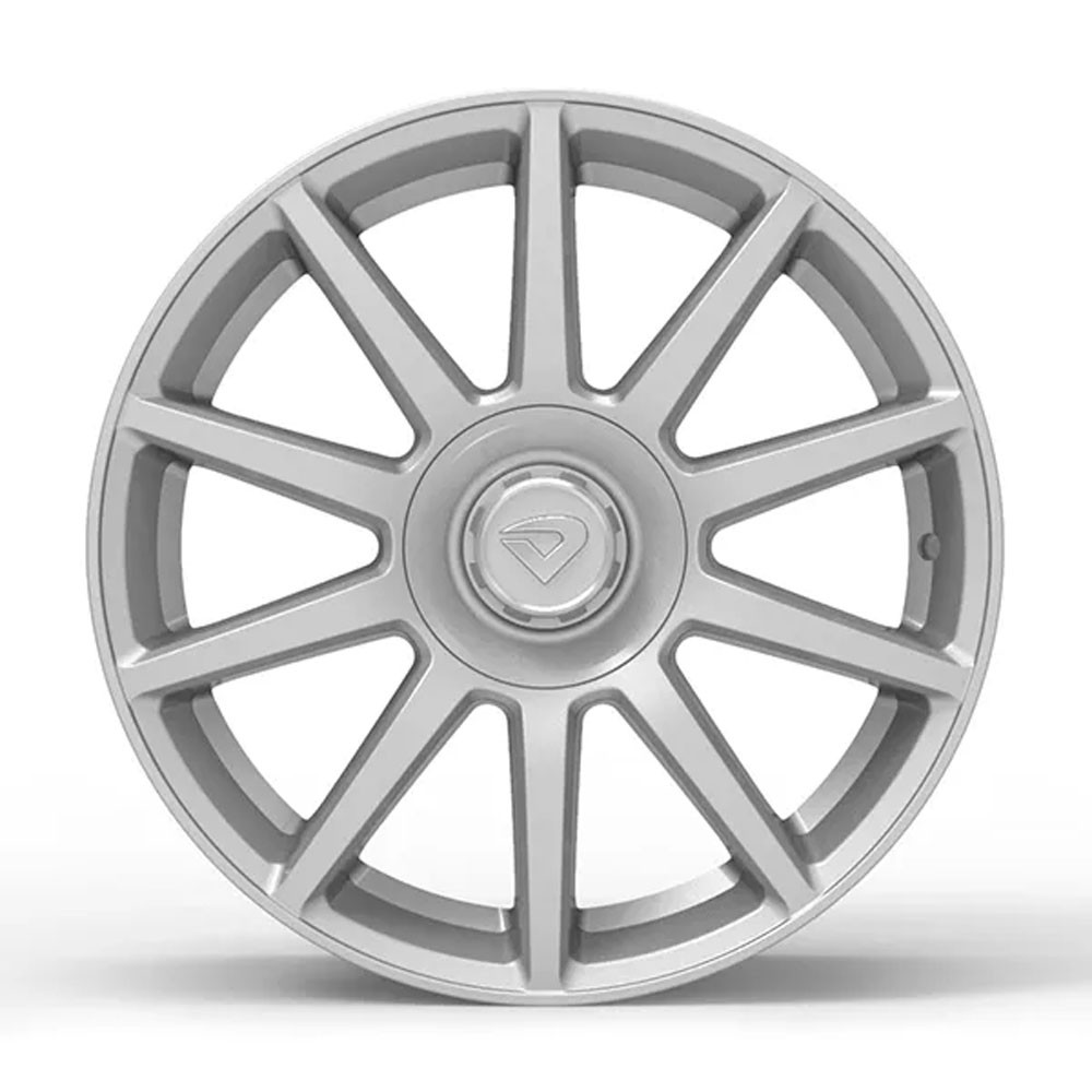 Jogo de Rodas Volcano Daimler Aro 17 Tala 6 4x100/108 Prata