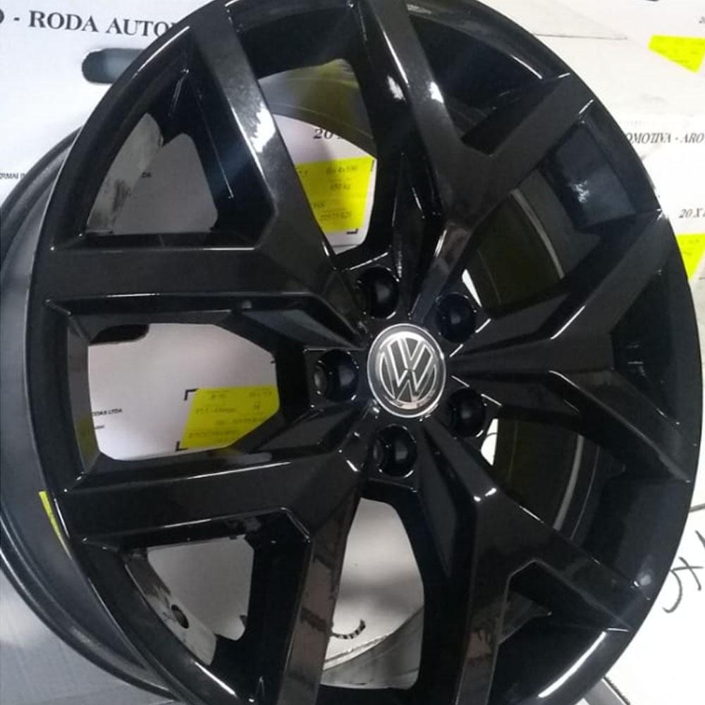 Jogo De Rodas VW Amarok 2018 Aro 22 5x120 Tala 9 S07 Black