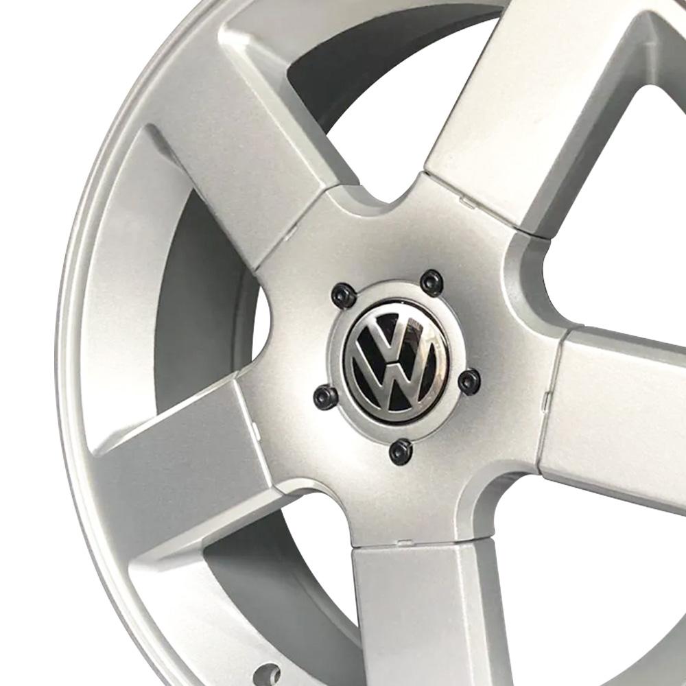 Jogo De Rodas VW Gol TSI Aro 17x6,0 4x100 BRW 1530 Prata