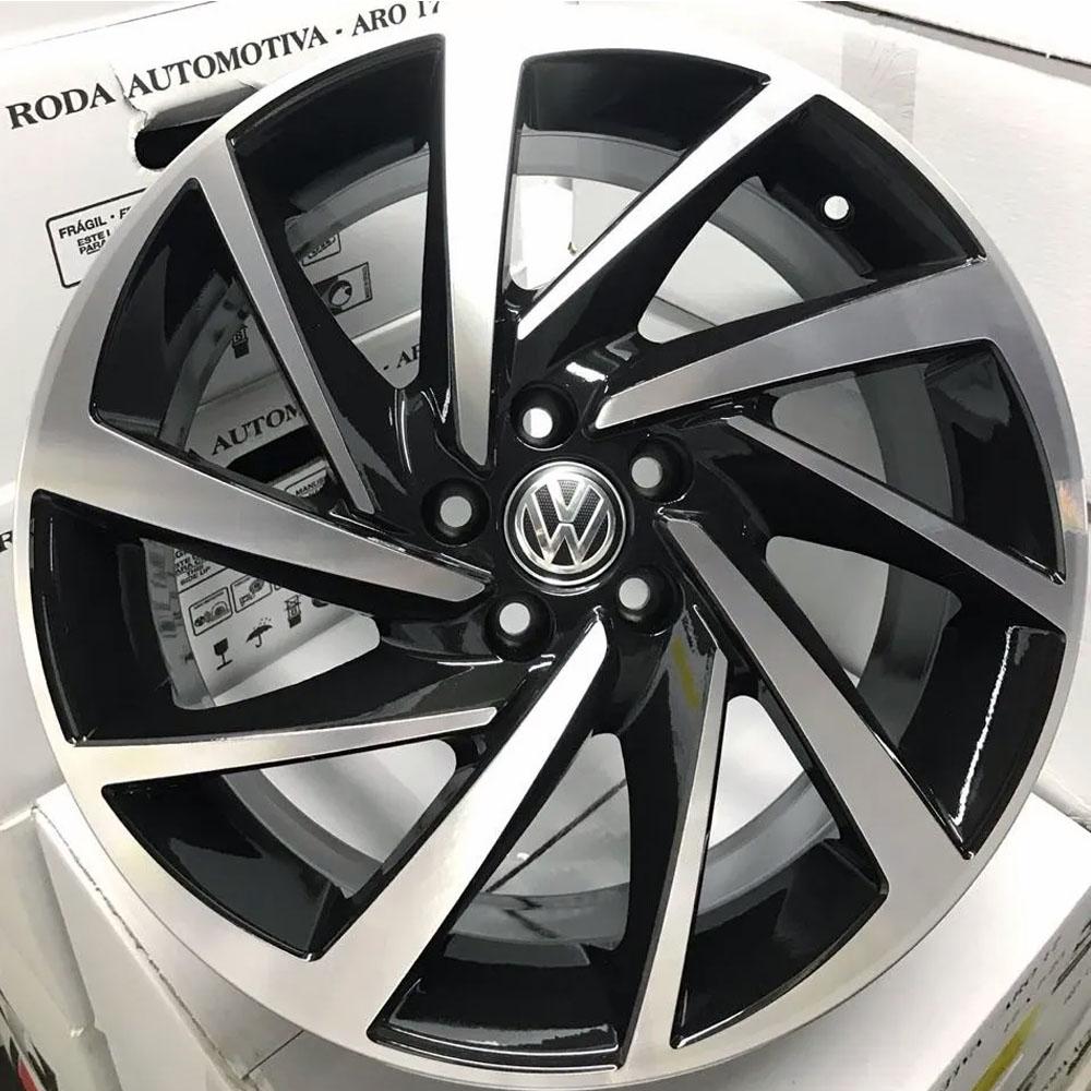 Jogo De Rodas VW Novo Polo Aro 18 5x100 Tala 7 R93 BD