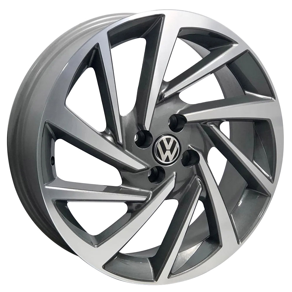 Jogo de Rodas VW Polo 2018 17X7,0 4X100 Tala 40 ZK800 GD