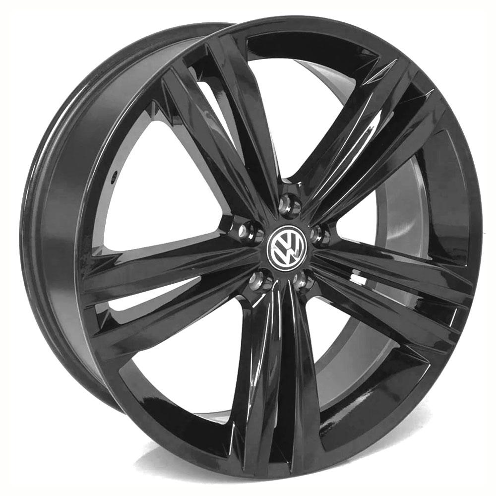Jogo De Rodas VW Tiguan Aro 18 5x100 Tala 7 S18 Black Fosco