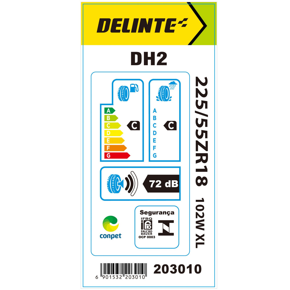 Kit 2 Pneus Delinte Aro 18 225/55 R18 102W XL DH2