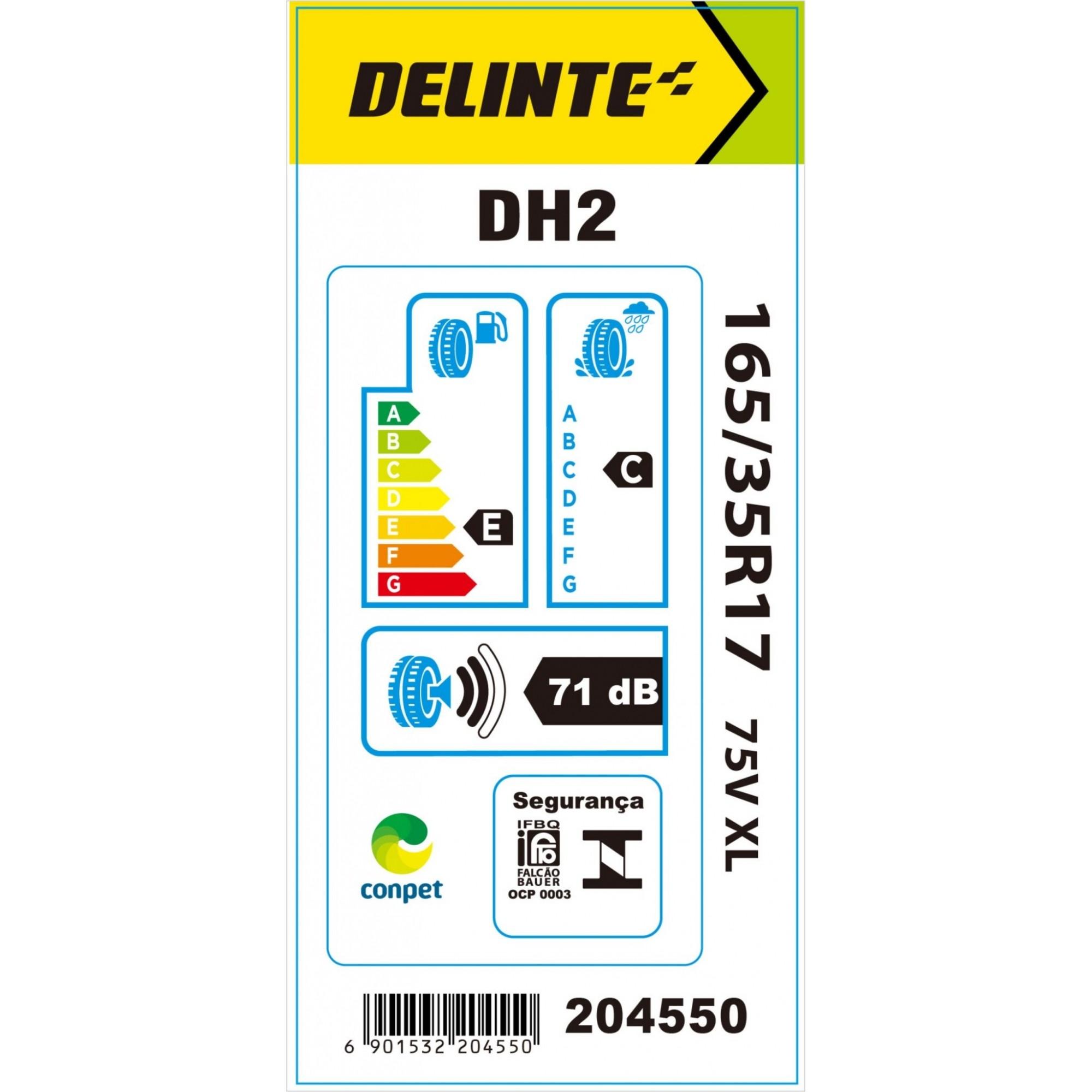Kit 4 Pneus Delinte Aro 17 165/35 R17 75V XL DH2