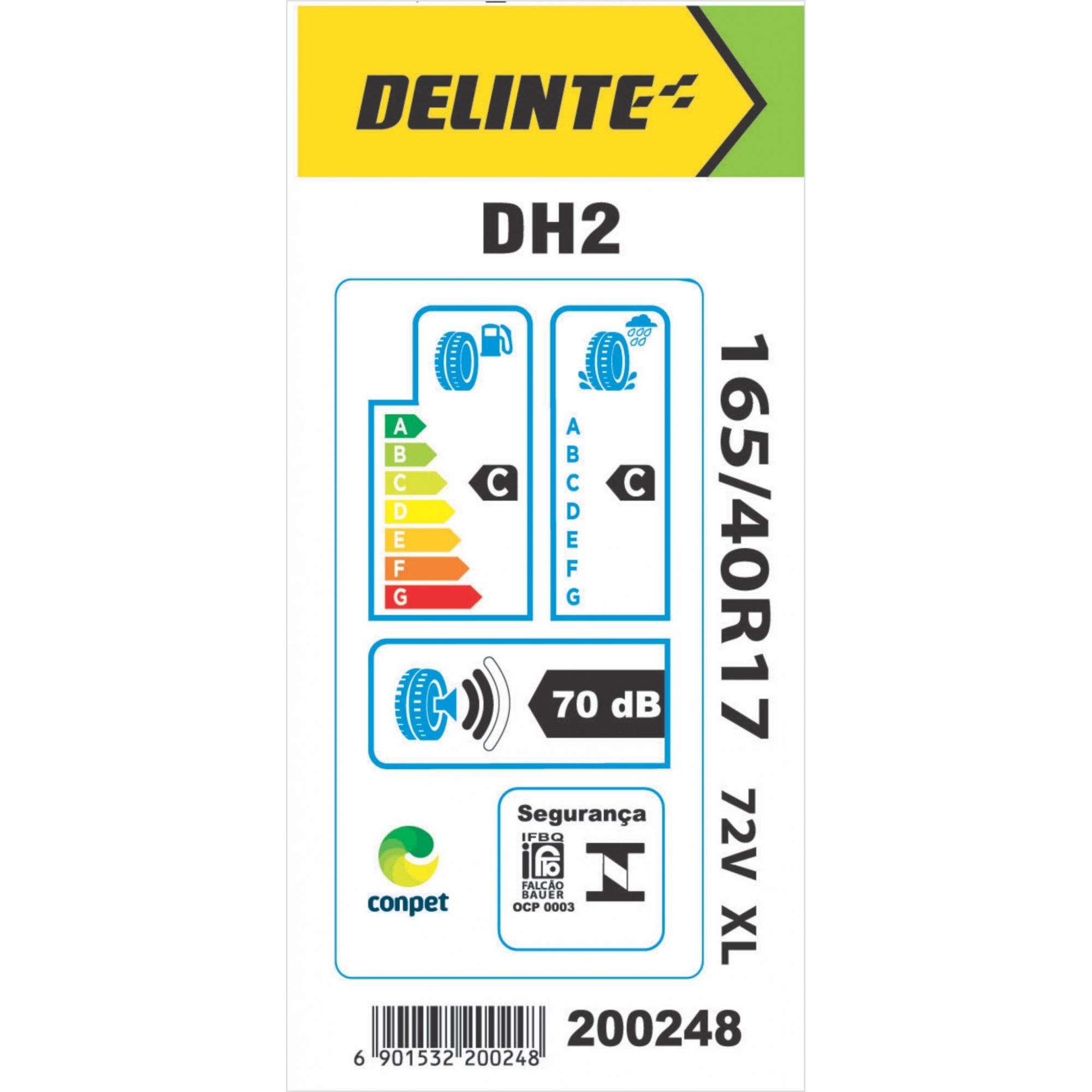Pneu Delinte Aro 17 165/35 R17 75V XL DH2