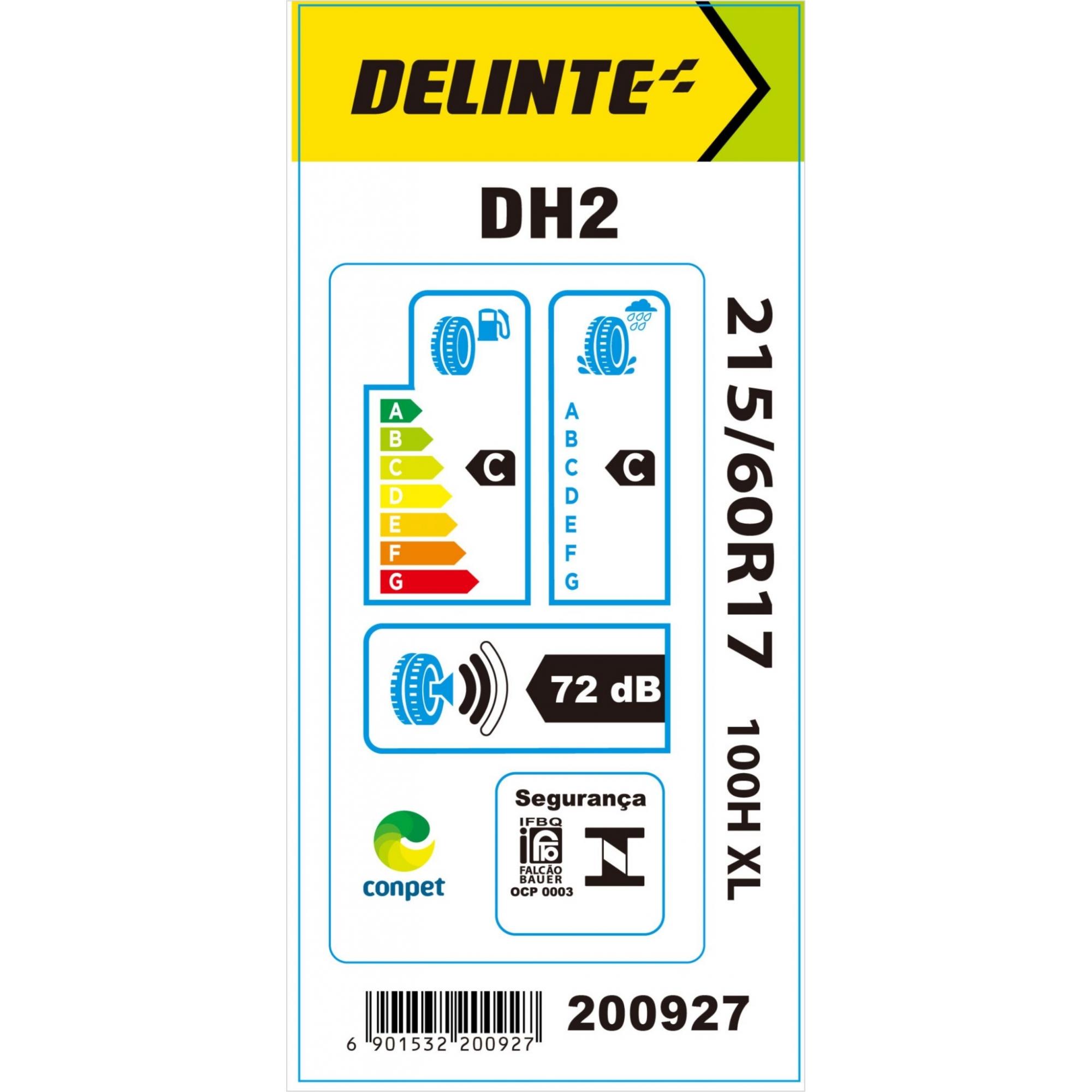 Pneu Delinte Aro 17 215/60 R17 DH2 100H XL