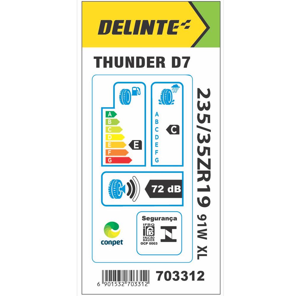 Pneu Delinte Aro 19 235/35 R19 91W XL D7 Thunder