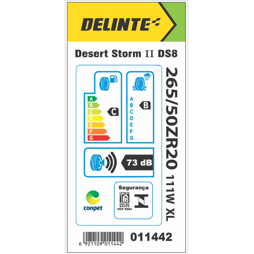 Pneu Delinte Aro 20 265/50 R20 111W XL DS8 Desert Storm II