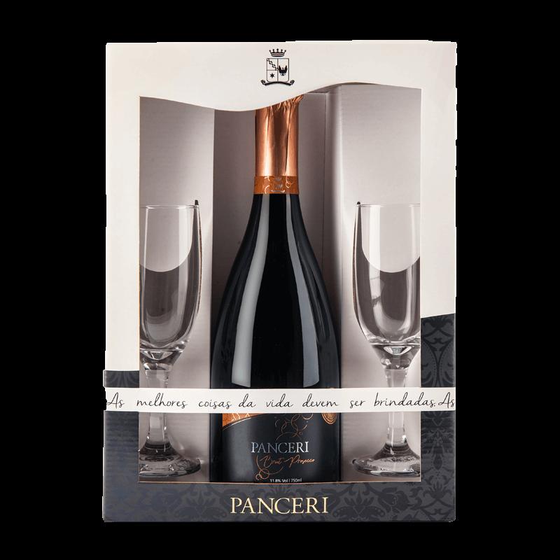 Combo Panceri Brut Charmat (Prosecco)  e 2 taças de vidro  - Vinícola Panceri